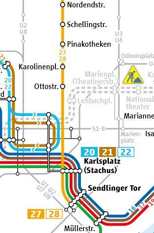 Pinakotheken-Tram-27-und-Tram-28-Karte-MVG